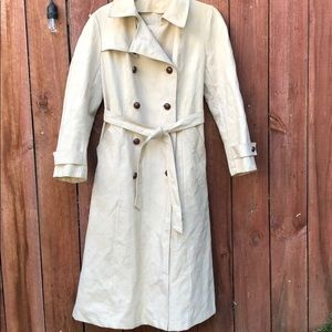 Vintage Trenchcoat Rain Coat Small